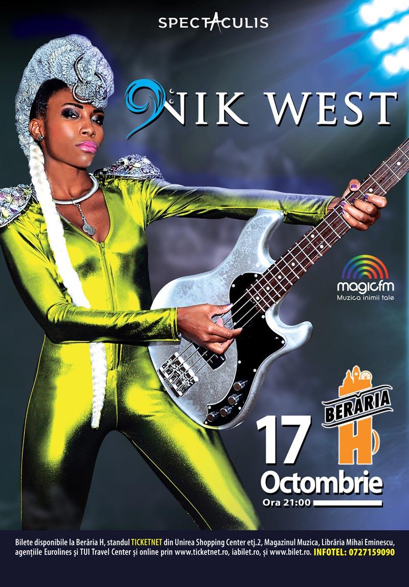 Nik West vine la Bucuresti, la Beraria H!